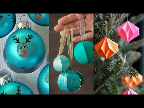 Diy 3 Easy Christmas Ornaments To Make With The Kids 2018 Paper