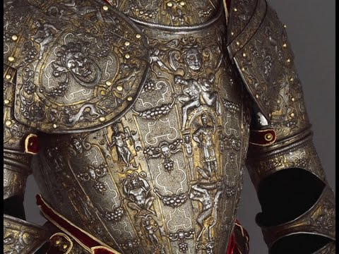 Fancy decorated weapons and armour were used for fighting for Armor decoration
