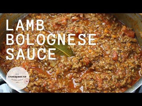 Lamb Bolognese Recipe | The Underground Cookery School