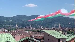 Lunedì 25 maggio: PASSAGGIO DELLE FRECCE TRICOLORI SU TORINO