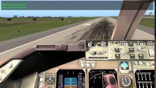 X plane 10 Gameplay (demo)