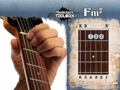 How to play the F minor 7 chord on guitar Fm7 - YouTube