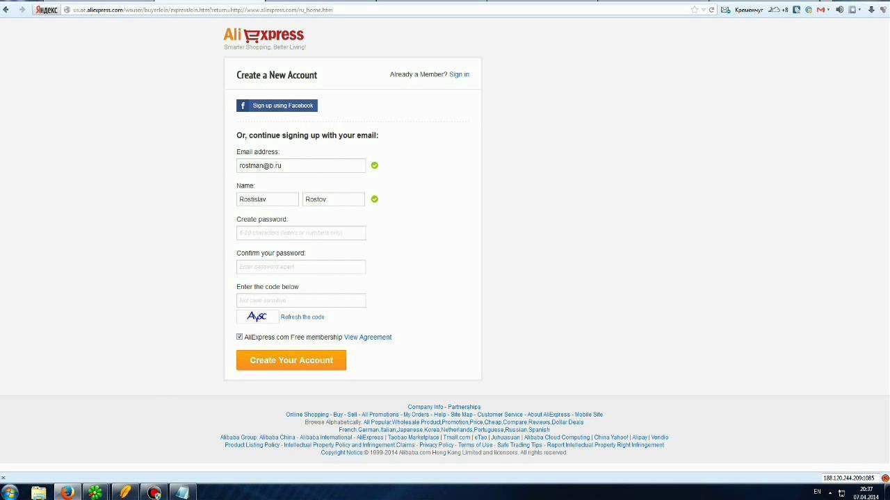 Регистрация На АлиЭкспресс На Русском Языке