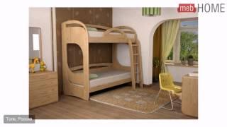 Кровать Торис Миа 1(Цена: от 42760 до 44028 руб. Материал: массив, шпон бука. Лестница может приставляться с любой стороны. Для верхнег..., 2014-07-14T08:55:08.000Z)
