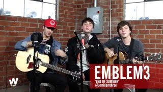 Watch Emblem3 Perform New Song 'End of Summer' at TheWrap Studio