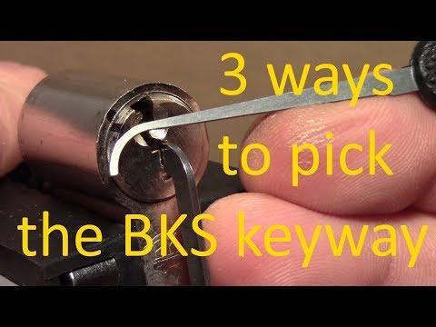 Взлом отмычками BKS   (picking 464) BKS