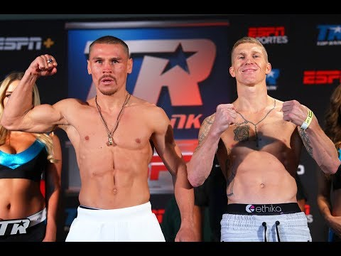 Vladimir Nikitin vs. Clay Burns Official Weigh In Footage from Las Vegas