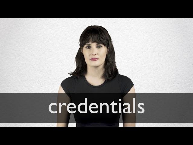 Significado De La Palabra Credenza : Credentials definición y significado diccionario inglés collins