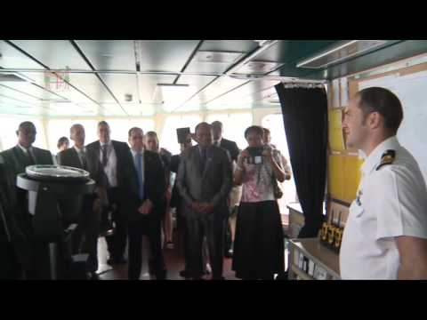 New Zealand Prime Minister visits HMNZS Otago at Suva Kings Wharf.