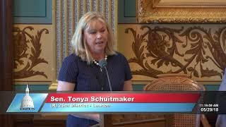 Sen. Tonya Schuitmaker speaks on sexual assault legislation