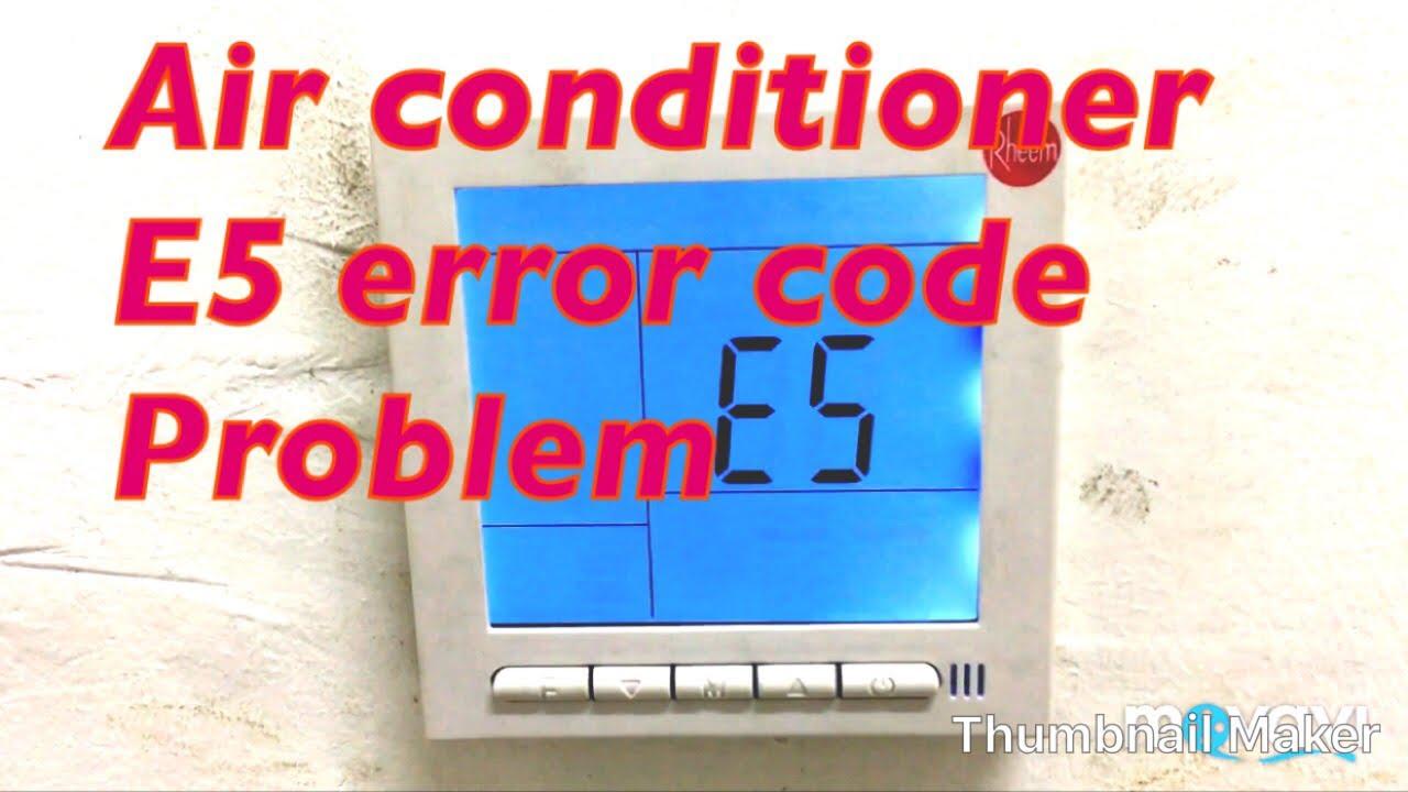 Air conditioner fixed E5 error code problem solution in Hindi