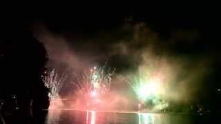 Feu d'artifice Lac Kir Dijon 14 juillet 2014