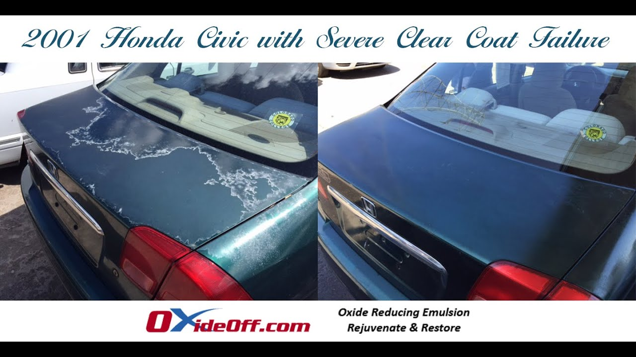 Honda Civic with Severe Clear Coat FailureHonda Civic with Severe Clear Coat Failure   YouTube. Exterior Clear Coat. Home Design Ideas