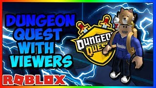 ROBLOX | DUNGEON QUEST | 1HOUR | PLAYING WITH SUBS | ROAD TO 2000 SUBS | LIVE