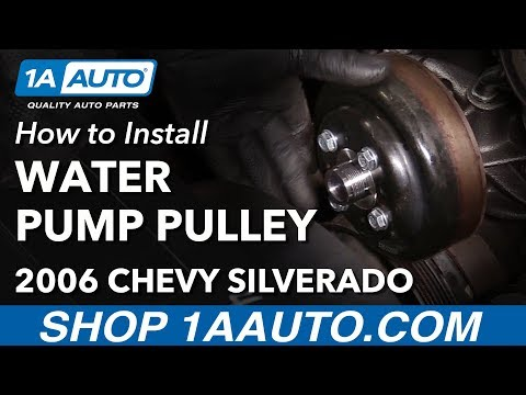 How To Replace Water Pump Pulley 00-06 Chevy Silverado