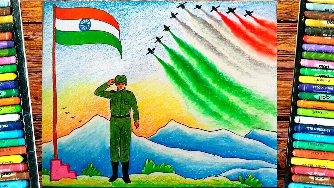 Independence Day Drawing Indian Army Drawing Republic Day Drawing Idea Youtube