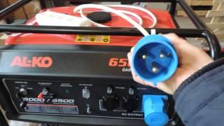 Вилка переноска 32А для строительного инструмента при питании от бензинового генератора 5 кВт