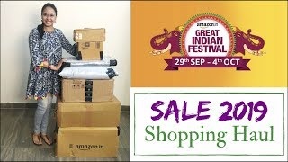 Amazon Shopping Haul 2019 | Unboxing & Product Review | Amazon India Huge Sale Shopping Haul