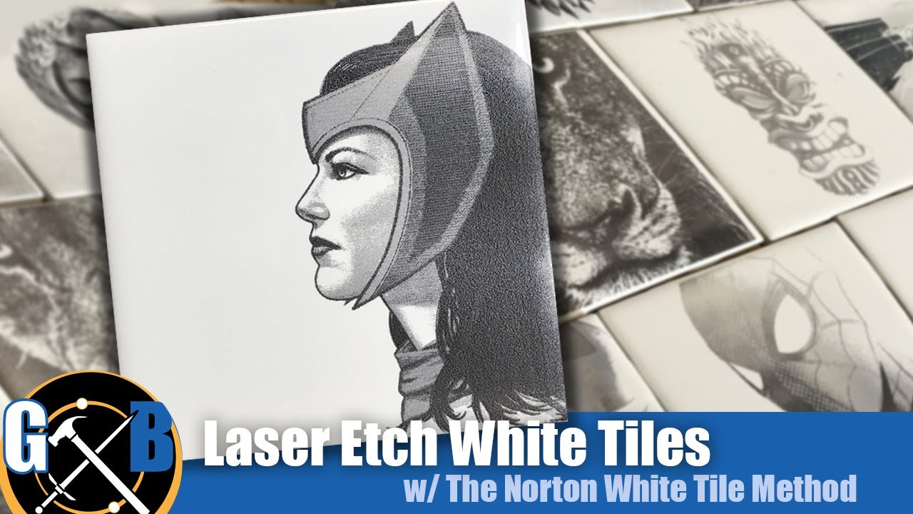 k40 laser engrave ceramic tiles permanently on the with this trick the norton white tile method