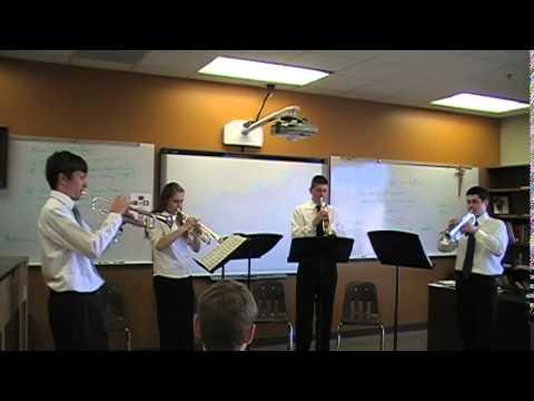 Schaeffer Academy Trumpet Quartet - April 2014