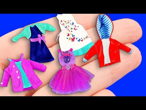 Видео: 25 BARBIE CLOTHES DIY