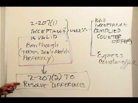 Contracts UCC: UCC 2 207 - Emerson Stafford
