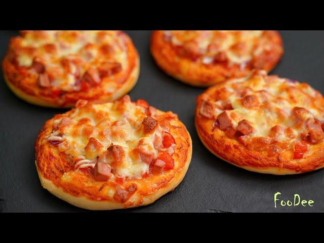 Изображение Домашние мини пиццы из детства! Школьная пицца - ОЧЕНЬ вкусный и простой рецепт!