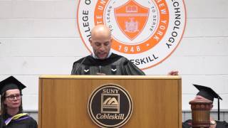 Pete Dominick SUNY Cobleskill Commencement Speech 2013