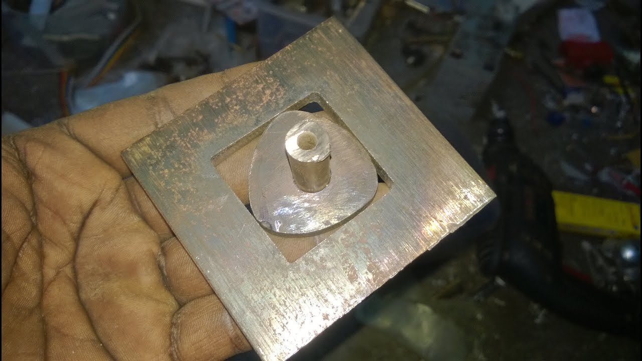 How To Make A Square Hole Drilling Tool Bit Homemade Part