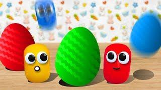 Мультики. Яйца с Сюрпризом. Учим цвета. Маша и Медведь, Щенячий патруль, Лунтик