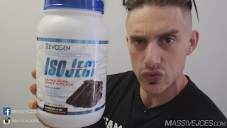 Evogen IsoJect Protein Powder Supplement Review - MassiveJoes.com RAW Review Iso Ject Isolate