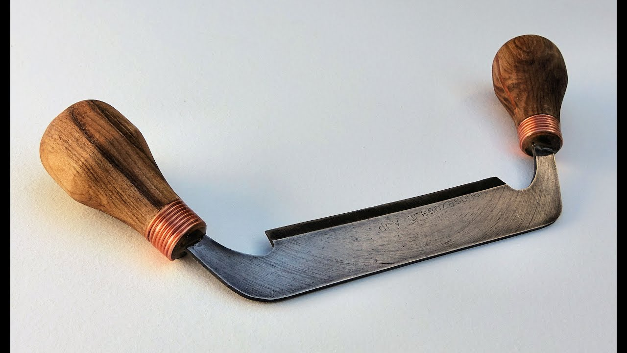 Making A Draw Knife From An Old Diamond Blade
