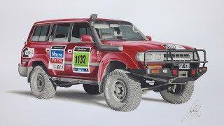 Toyota Land Cruiser gx80 | Dibujo Realísta SPEED DRAWING