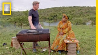Gordon Ramsay Learns the Art of Braai Cooking | Go...