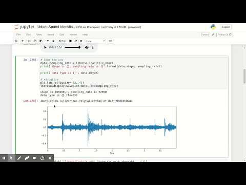 Machine Learning for audio: Urban Sound Identification