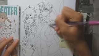 Speed Drawing Soul and Maka from Soul Eater