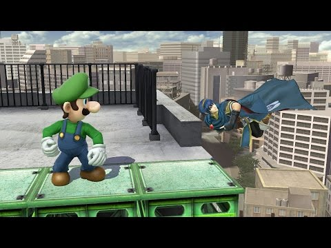 Smash 4 - Luigi wins against every level nine CPU by doing a