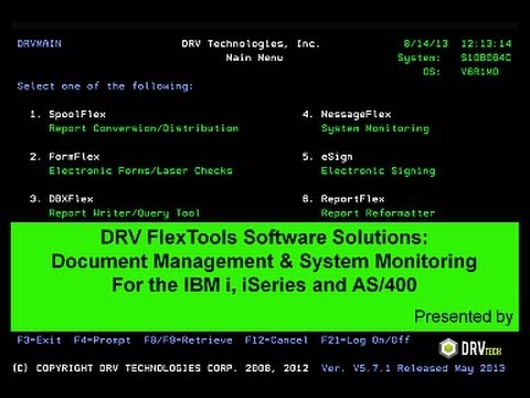 flextools webcast - As400 Computer System