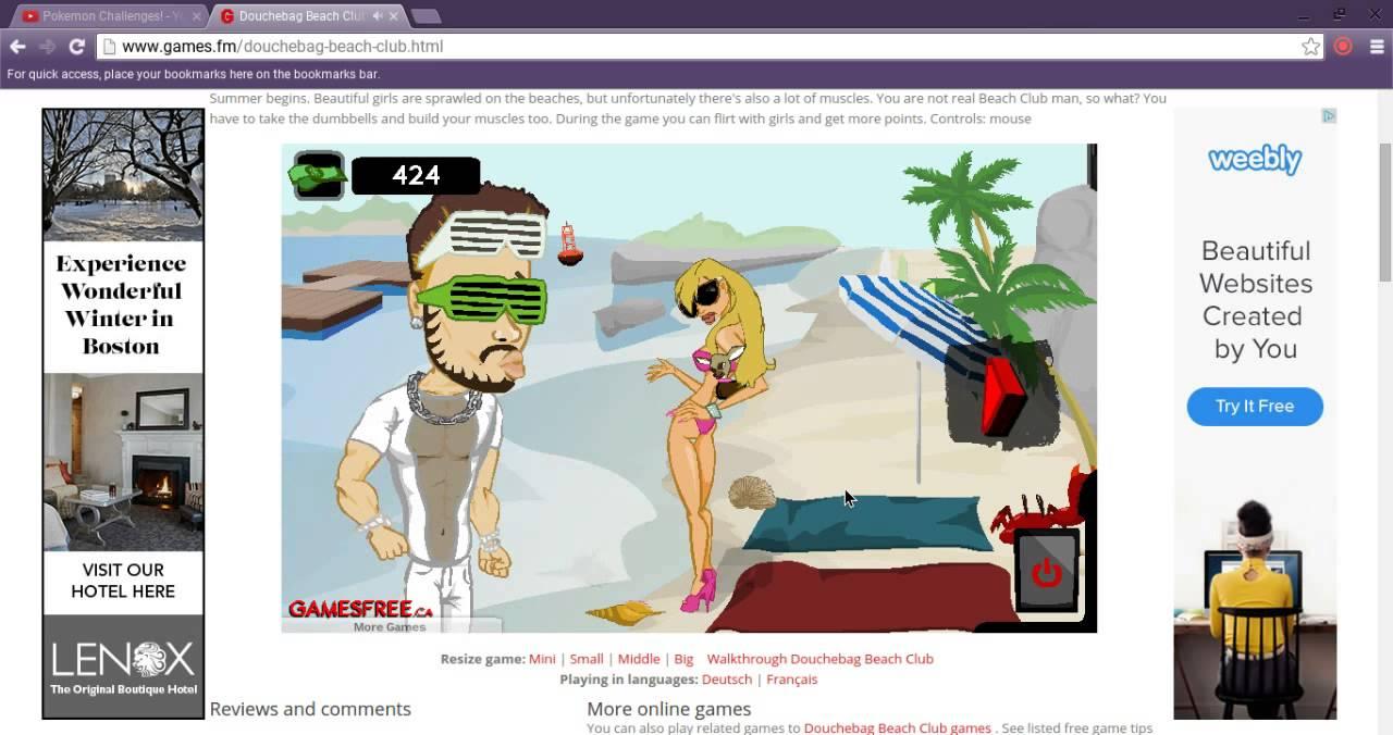 flirting games at the beach club: