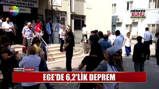 Ege Denizi'nde 6.2'lik deprem