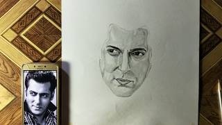 Salman Khan drawing Bollywood sketch book (wish birthday)