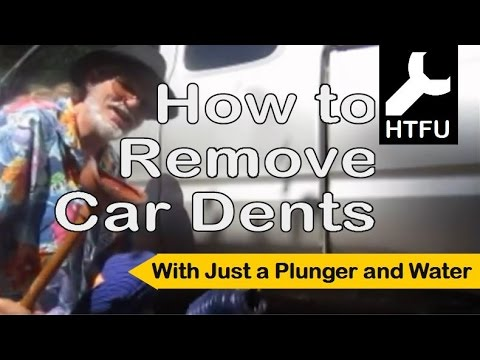 How to Remove Car Dents: Car Dent Removal & Car Door Dent Repair with Hot Water and a Toilet Plunger