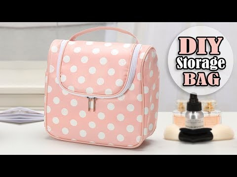 DIY CUTE HANDBAG Travel Beauty Storage Bag Tutorial Zip