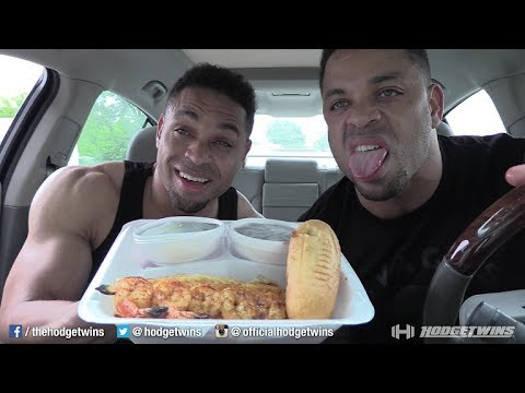 Eating Captain D's White Fish & Shrimp Skewers @hodgetwins