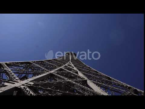 Perspective View Of Metal Construction Eiffel Towerstockfootage City Template