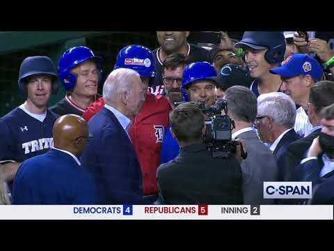 President Biden Arrives at Congressional Baseball Game