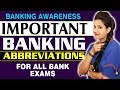 Important Banking Abbreviations Part-1 | Bank Exam | SBI, RRB, IBPS | Banking Awareness