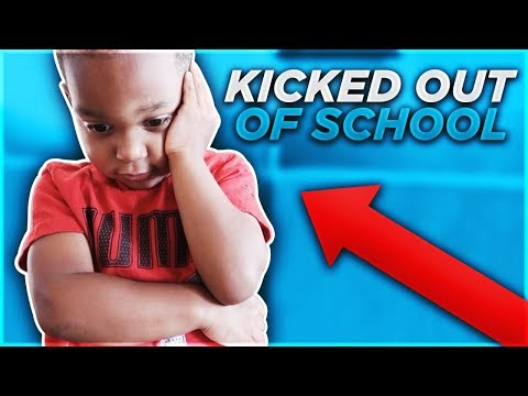 HE GOT KICKED OUT OF SCHOOL **permanently**