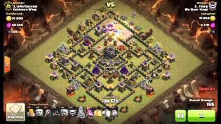 Poison Spell Golems Wizards & Hogs   3 Star Max TH9   We Bury Kings
