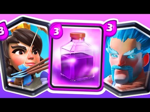 Clash Royale ALL 3's Challenge!!